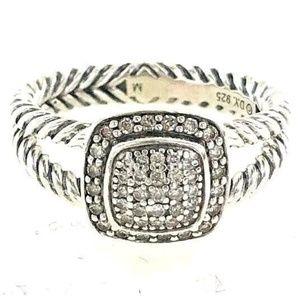 RARE David Yurman Diamond Pave Petite Albion Ring